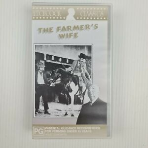 The Farmer's Wife VHS Tape - Hitchcock - 1928 - Silent Movie - TRACKED POSTAGE