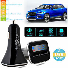Hot Dual USB 4.8A Car Charger Adapter LED Display Fast Charging for Phone