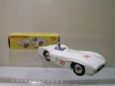 DINKY TOYS UK 237 MERCEDES-BENZ W196 RACINGCAR *30*SPUNHUBS MATT-WHITE 1960 1:43
