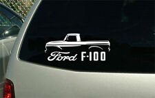 1961 - 1966 Ford F100 pickup truck car outline sticker decal wall graphic