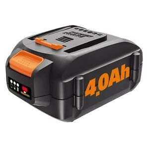 WORX WA3578 20V MaxLithium 4.0 Ah Battery for Trimmer, Hedge Trimmer, Blower