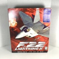 F-22 Lightning 2 Game For PC Windows Novalogic The Art Of War | Big Box