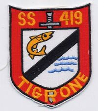 USS Tigrone SS 419 - Shield with dagger/fish - Submarine - BC Patch Cat No B534