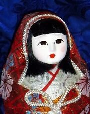 Female Vintage Japanese Wedding HAKATA Dolls w. Kimono