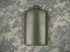 US MILITARY PLASTIC 1 PT PILOT FLASK / CANTEEN OD GREEN
