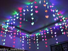LED String Light Heart Net Christmas Xmas Fairy Wedding Curtain Lamp Bulb 220V
