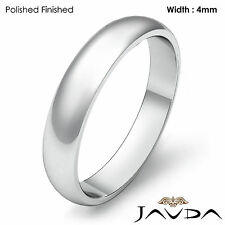 Classic Men's 4mm Platinum Plain Dome High Polished Wedding Ring Band 6.1g 8-8.5