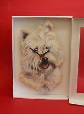 West Higland Terrier Dog Wooden Wall Clock Pet Vet Mother Christmas Gift NEW