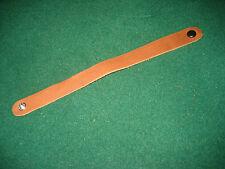 "Medium brown leather bracelet wristband 8"" x 3/4 very soft"