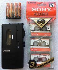 Lanier P-165 Handheld Microcassette Voice Recorder W/ 3 Tapes + 90 Days Warranty