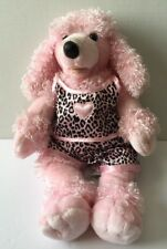 Build A Bear Pink Poodle Stuffed Dog Silky Leopard Print Pajamas