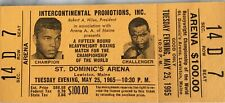 1965 Boxing Full Ticket Ali vs Liston May 25 GOLD ARENA $100