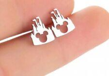 Disney Mickey Mouse Silver Coloured Castle Earrings. Wedding, Birthday Xmas