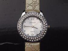 Montre femme ERNEST strass - quartz  - Bracelet cuir
