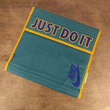 Vtg 90s Nike JUST DO IT Swoosh Mead Binder Rare Blue School Notebook Gold Teal
