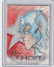 UD THOR THE DARK WORLD ARTIST SKETCH CARD CAPTAIN AMERICA by CRUDDIE TORIAN