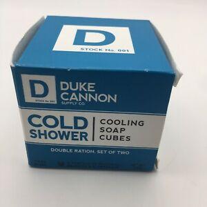 Duke Cannon Cold Shower Cooling Soap Cubes -Set of 2