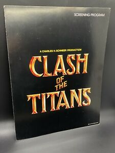 1981 CLASH OF THE TITANS Screening Program Harryhausen