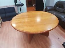 Round  Meeting Table (1500mm diameter) in Mahogany