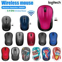 Logitech USB Wireless Mouse 1000DPI 2.4GHz Unifying Ergonomic Optical PC Mice