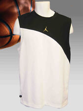 New Nike JORDAN Basketball Shirt Vest Jersey White Black large S Small