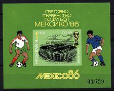 6096-BULGARIA 1986 Football World Cup BLOCK s/s **MNH