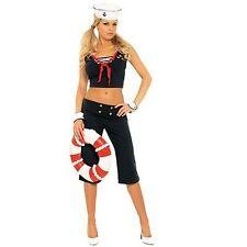 Elegant Moments First Mate Sailor Navy X-Large Size 14-16 Halloween Costume NIP