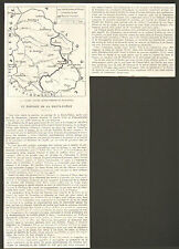 POLOGNE POLAND SHARING UPPER SILESIA PARTAGE HAUTE-SILESIE ARTICLE PRESSE 1921