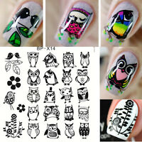 1Pc BORN PRETTY BP-X14 Square Nail Art Stamping Template Image Plate Owl Design