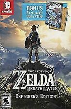 Legend of Zelda: Breath of the Wild - Explorer's Edition Switch game and box