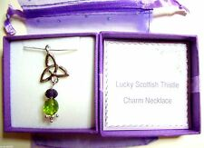 Thank You Gift Teacher Scottish Thistle Celtic Necklace Christmas Birthday