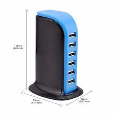 USB Charger 6 Port Travel Desktop Charger Smart Quick Charging Station AU Cord