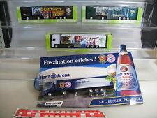 S871-1# 4x Werbemodelle H0 LKW/Sattelzug: WM 2006 Germany + Paulaner Allianz