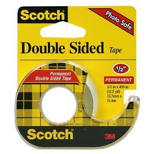 Scotch Double Sided Tape With Dispenser, 1/2