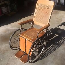 Antique Wooden Wheelchair