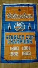 New York Islanders Stanley Cup Champions Flag 3ft x 5ft Polyester NHL Banner
