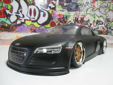 Kyosho 1/10 Audi R8 Coupe 205mm Black Painted Touring Body Shell OZ RC Models