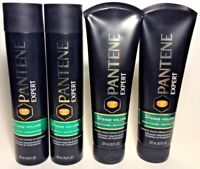 (4) Pantene Expert Pro-V Intense VOLUME (2) SHAMPOO 9.6 oz & (2) CONDITIONER 8oz