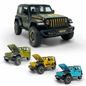 1:20 Jeep Wrangler Rubicon SUV Model Car Diecast Gift Toy Vehicle Kids Pull Back