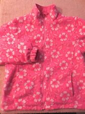 Arizona Jeans Co Girls Jacket Large Reversible Pink Fleece Flowers L Size Coat