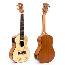 "Concert Ukulele 23"" Electric-Acoustic Ukelele Hawaii Guitar Laminated Sapele EQ"