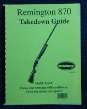 Remington 870 Shotguns Takedown Guide Radocy Assembly