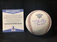 Shane Bieber Autograph Cleveland Indians Signed 2019 All-Star Baseball BAS D3