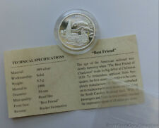 American Mint History Of The Railroad Best Friend 8.5 Gram .999 Pure Silver Coin