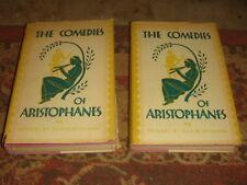 2 Volume Set - THE COMEDIES OF ARISTOPHANES -1931 HB w/DJ Rarity Press FREE SHIP