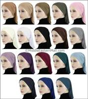 Lycra under scarf Long Tube Hijab Cap underscarf Hair loss Hat  Bonnet beanie US