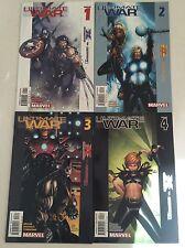 Ultimate War #1-4 Set Mark Millar Chris Bachalo 2003 Ultimates Ultimate X-Men