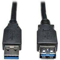 Tripp Lite U324-006-BK USB 3.0 SuperSpeed Extension Cable (AA M/F) Black, 6-ft