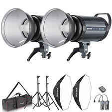 Neewer Kit de Lumière 800W Flash Strobe Photo Studio 2* 400W Flash Monolight