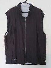 Men's Adidas Climawarm Black Zip-Up Vest Winter (Gray Fleece Lining) Size XL